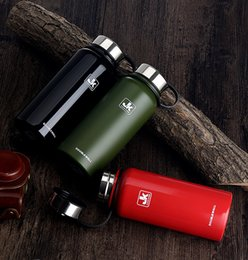 Wholesale Tea Cup Kettle Wholesale - 610ml 20oz Stainless Steel Vacuum Cup Outdoors Hiking Climbing Large Capacity Sports Kettle Double Wall Water Bottles