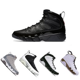 Wholesale New Basketball Shoe Releases - 2018 New 9 9s men basketball shoes sports 2010 RELEASE Bred Lakers PE OG space jam high Black white High shoes sneaker 41-47