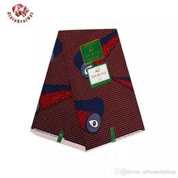Wholesale Super Hollandais Wax Prints Fabric - 2018 Ankara African Polyester Wax Prints Fabric Super Hollandais Wax High Quality 6 yards African Fabric for Party Dress PL671