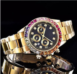 Wholesale Elegant Automatic Watch - Top sale high quality elegant Luxury brand Fashion designer Ladies gold watch Automatic calendar stainless steel diamond watches for women