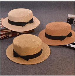 Fashion Parent-child sun hat Cute children sun hats bow hand made women  straw cap beach big brim hat casual glris summer cap 9056675c167e
