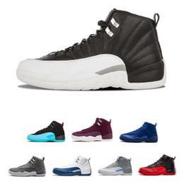 2019 alta qualità 12 12s OVO bianco palestra rosso scuro grigio scarpe da basket Mens taxi blu in pelle scamosciata gioco CNY Sneakers supplier taxis shoes da scarpe da tassì fornitori