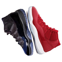 Wholesale Mens Gowns - New arrival 11 Prom Night Cap and Gown WIN LIKE 82 96 Midnight Navy Mens Basketball Shoes UNC Gym Red 11s Sports Sneakers