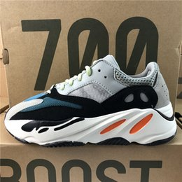 Wholesale women table tennis shoes - Adidas Originals Yeezy Boost 700 Kanye West Best Quality Classic Running Shoes Wave Runner 700 Boosts Sports Shoes Fashion Sneaker With Box