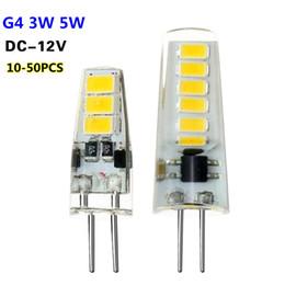 Wholesale Led Long Spotlights - Mini Bulb G4 Led Night Light Lamp 3W 5W DC 12V Spotlight 6 12 LEDs 10-50 Pcs Long Life Decor Replace Halogen Lamp Energy Saving