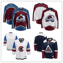 3c0190f5aa4 2018 custom Men s women youth Colorado Avalanche Hockey Jerseys  00 Any  Your name and your number Home White Blue Kids Girls Hockey Jerseys