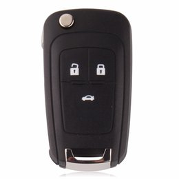 nissan car shell caso remoto Desconto Para chevrolet cruze buick opel 3 botão chave em branco repalce caso shell key chave original (adesivo redondo)
