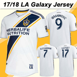 Wholesale Galaxy Grey - 18 19 Los Angeles Galaxy IBRAHIMOVIC Soccer Jersey GIOVANI ALESSANDRINI Home White Football Shirts 2018 LA Galaxy LETGET Jerseys Men Uniform