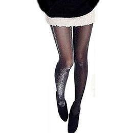 Atmungsaktive strumpfhose online-1 STÜCK Sexy Frauen Charming Shiny Pantyhose Glitter Weiche Atmungsaktive Strümpfe Frauen Glänzende Strumpfhosen Strümpfe