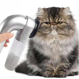 Barracas de ferramentas on-line-Hot vendas Elétrica Pet Dog Hair Trimmer Fur Remover Grooming Escova Pente Aspirador de pó Ferramenta de Higiene Do Cão Cat Suprimentos Acessórios