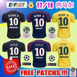 Wholesale Printed Football Jerseys - Thialand Maillot de foot MBAPPE NEYMAR JR + Chinese Print soccer jerseys 2018 CAVANI DANI ALVES jersey 17 18 football shirt survetement
