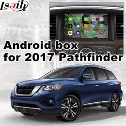 Wholesale nissan mirrors - Android 6.0 GPS navigation box for 2017 Nissan Pathfinder mirror link video interface box youtube play wze iGO yandex navi