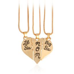 3 unids / set Letras Collar