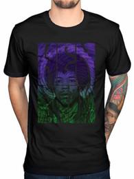 Herói do céu on-line-T-shirt oficial do texto de Jimi Hendrix Swirly Beije a ponte do arco-íris dos heróis da guerra do céu
