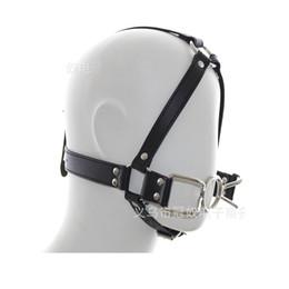Wholesale Hook Gag - 2018 Spider Shape Metal Ring Gag Bondage Restraint with Nose Hook Slave Fetish Mouth Gag S&M tools Black Full Head Harness