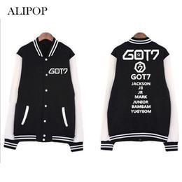 Wholesale Album Jackets - Youpop Kpop GOT7 FLY Hard Carry Album Jacket K-POP Cotton Clothes Long Sleeve Baseball Uniform Jackets Outerwear & Coats WY414