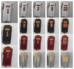 Wholesale love rising - 23 LeBron James 3 Isaiah Thomas 9 Dwyane Wade 1 Derrick Rose 0 Kevin Love Men's Basketball Jerseys Fan version Jersey