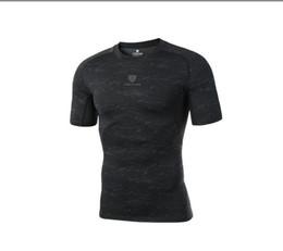 Trajes online-Venta al por mayor PRO nuevos deportes de fitness bodysuits de manga corta de secado rápido de compresión camiseta de baloncesto running ropa de entrenamiento mejor