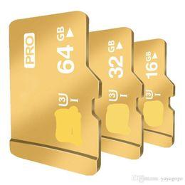Unidad flash usb sd micro online-New Gold 128GB 64 GB 32G 16 gb Tarjetas Micro Sd Class10 Tarjeta de memoria Unidad de memoria flash USB Accesorios para tarjetas de almacenamiento TF 103