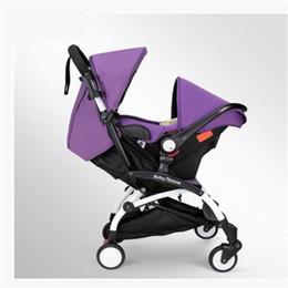 Sicherer regenschirm online-Marke Kinderwagen 3 in 1 Taschenschirm Baby Auto Multifunktions Babys Kutschen mit Auto Safe Sitze Freies Drop Shipping