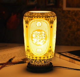 Wholesale Chinese Touch Lamps - Chinese style blue and white porcelain ceramic table lamp