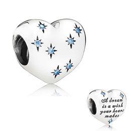 Aschenputtel schmuck perlen online-Authentische 925 Silber Perlen Diney, Aschenputtels Traum Charme, Fancy Light Blue CZ passt europäischen Pandora Style Schmuck Armbänder Halskette