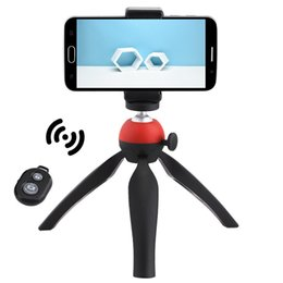 Wholesale Remote Table - Mini 360 Rotatable Stand Adjustable Selfie Table Portable Camera Tripod Mount with Wireless Bluetooth Remote Shutter Holder for Phone