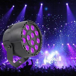 Wholesale Projector Disco - High Power 36W 12 LEDs Sound Active UV Led Stage Par Light Ultraviolet Led Spotligh Lamp for Disco DJ Projector Machine Party