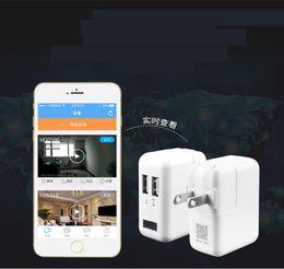 Wholesale Spy Wall Socket - WiFi spy hidden camera US wall plug charger camera USB adapter socket spy recorder