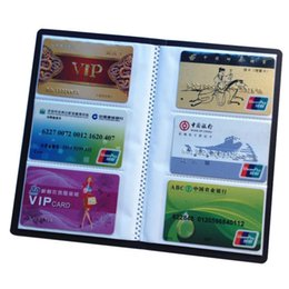 Wholesale credit card book - New Arrival Business Portable Credit Card Holders High Quality Leather 120 Bank Card Case Holder Organizer Book Visita #2017
