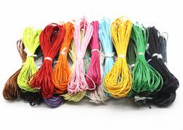 set di biancheria da letto di ricamo a mano Sconti 200 Metri Colore misto cerato cotone bordare il cavo 1mm Accessori collana di braccialetti 20 colori gioielli decorativi