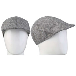 a587425f New Autumn Winter Fashion Design Gentleman Linen Cap Special Solid Color  Newsboy Models berets Flat Caps Director Hat Hot