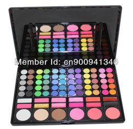 Wholesale Pressed Blush - Free Shiping Cheap Beauty Product Series 3 #P78 78 Color Eyeshadow Cheek Blush Pressed Powder Make Up Set