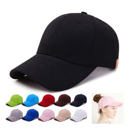 Wholesale snapbacks wholesale prices - New released 11colors Pure CC hat Ponytail Ball Cap Messy Bun Trucker Ponycap Plain Baseball Visor Cap Ponytail Snapbacks Best Price