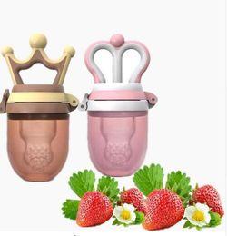Wholesale Nipple Baby Bottle - Lovely baby Pacifier Princess and prince baby fruit pacifier Clips Fresh Food Milk Nibbler Feeder Baby Nipple Bottles KKA4168
