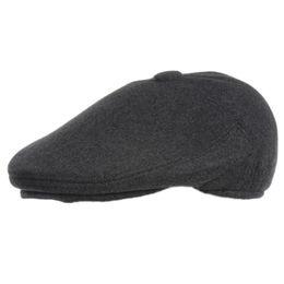 Berretto da berretto per uomo Cappellino da papà con berretto a orecchino Berretto  invernale Moda Colore reticolo per riga Cappelli a prova di vento per ... 91e53b4a6b6e