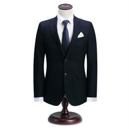 2019 traje clásico color azul marino Hombres de negocios de la marina de  guerra trajes de 12d2e4b3ecb