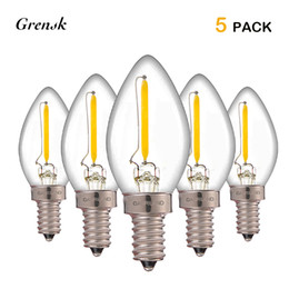 Wholesale Led Candelabra E12 - C7 Vintage LED Filament Light Bulb 0.5W Equivalent to 5w Incandescent Bulb E12 E14 Candelabra Base Warm White 2700K