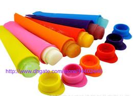 Eiscreme online-100 stücke Silikon Pop Joghurt Push Up Eis Am Stiel Pop Maker Gefrorene Stick Gelee Popsicle Form Form DIY