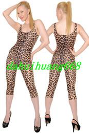 Ternos lycra leopardo on-line-Sexy Leopardo Padrão Terno Do Corpo Trajes Unisex Lycra Spandex Leopardo Terno Catsuit Trajes de Halloween Do Partido Do Vestido Extravagante Traje Cosplay DH121