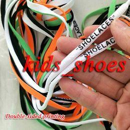 печатные обувные шнурки Скидка Модные круглые шнурки, подходящие для всех видов мужчин, женщин, повседневная спортивная обувь, кружева с принтом, двусторонняя печать Длина 1-1,2 м