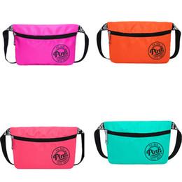 Wholesale Eco Friendly Cosmetic Bag Wholesale - Love Pink Letter Fanny Pack Waist Bags Women Girls Fashion Design Waterproof Purse Beach Bag Sports Handbag Cosmetic Bags