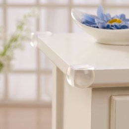 kupfer-schubladen-knöpfe Rabatt 4 Stücke Ball Ecke Schutze Weichen PVC Stoßschutz Tisch Tischkante Winkelschutz Baby Kind Kinder Transparente Sicherheits Bead