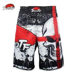Nuevos pantalones de combate online-Suotf The New Training Muay Thai Fighting Fitness Combate Pantalones deportivos Tiger Muay Thai Ropa de boxeo Shorts Mma Pretorian Boxeo