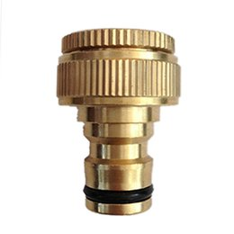 "Wholesale connecting fitting - New Pure Brass Faucets Standard Connector Washing Machine Gun Quick Connect Fitting Pipe Connections 1 2 ""3 4"" 16mm Hose"