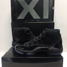 Wholesale night gowns woman - With Box cap and gown XI 11s PROM NIGHT 11 BLACK OUT 378037-005 Men women Basketball Shoes Athletic Sneakers Mens 11s Sport shoes