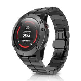 2018 de lujo de aleación de titanio duro duro de liberación rápida correa de reloj de pulsera de moda correas con la herramienta de liberación para Garmin Fenix 5X desde fabricantes