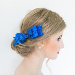 Argentina Hot Baby Girls Clips de arco Brillos para el cabello Brillo de los niños con pinzas de cocodrilo para el cabello Luminoso Bowknot Horquillas Niños Infantes Accesorios para el cabello Suministro