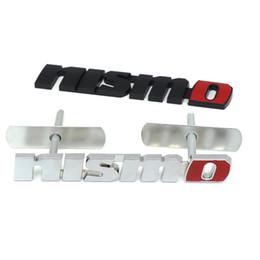 Adesivo de nissan on-line-Cromo NISMO Auto Adesivos de Carro Frente Grade Emblema Emblema Estilo Do Carro Para Nissan Tiida Teana Skyline Juke X-trilha Almera Qashqai