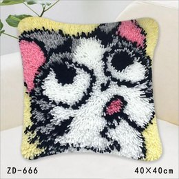 Wholesale Lovely Pink Cushions - Lovely Cat Pillow Case Christmas Pillowcase Pillow Cover Sofa Car Decor Cushion Pink Cats For Office And Home Soft Carpet Pillow Embroidery